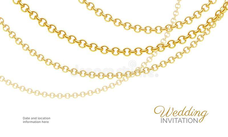 Gold chain necklace luxury jewelry background wedding invitation download gold chain necklace luxury jewelry background wedding invitation vector design stock photo stopboris Choice Image