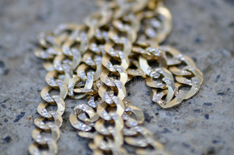 Gold chain, necklace, stock images