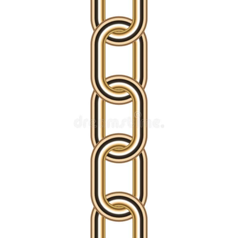 Gold chain stock illustration