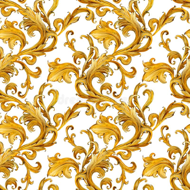Free Gold Chains Seamless Pattern. Luxury Illustration. Golden Love Design. Luxury Jewelry. Stock Photo - 136063050