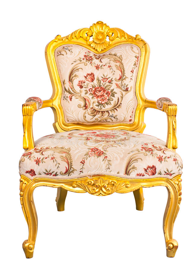 Gold chair royalty free stock photos