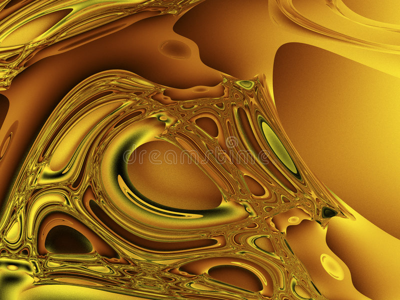 Gold Chaos royalty free illustration