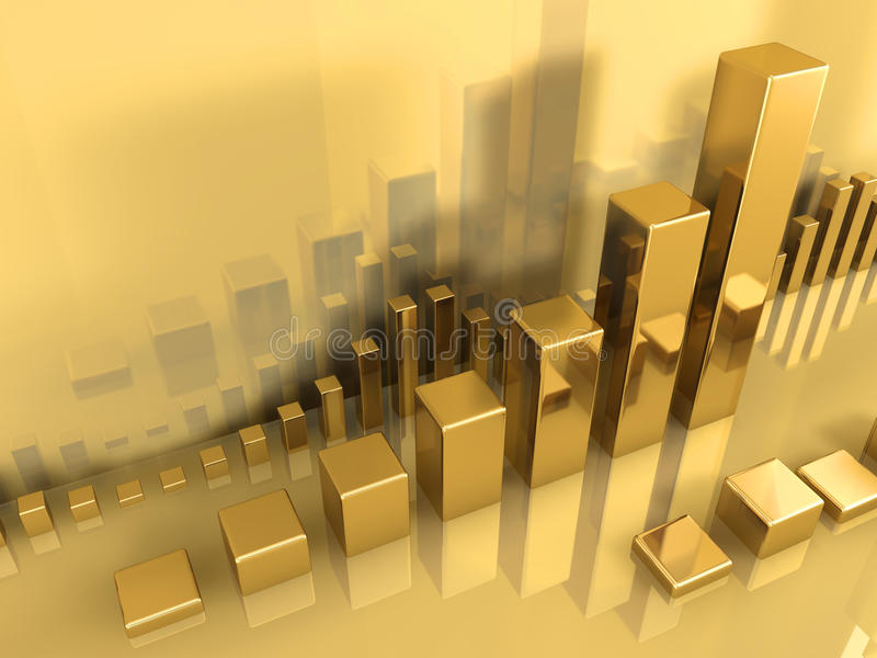 Gold Chart royalty free illustration