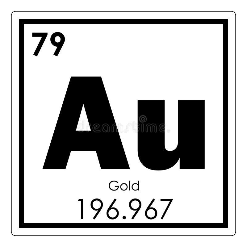 Gold Chemical Element Stock Illustration Illustration Of Symbol