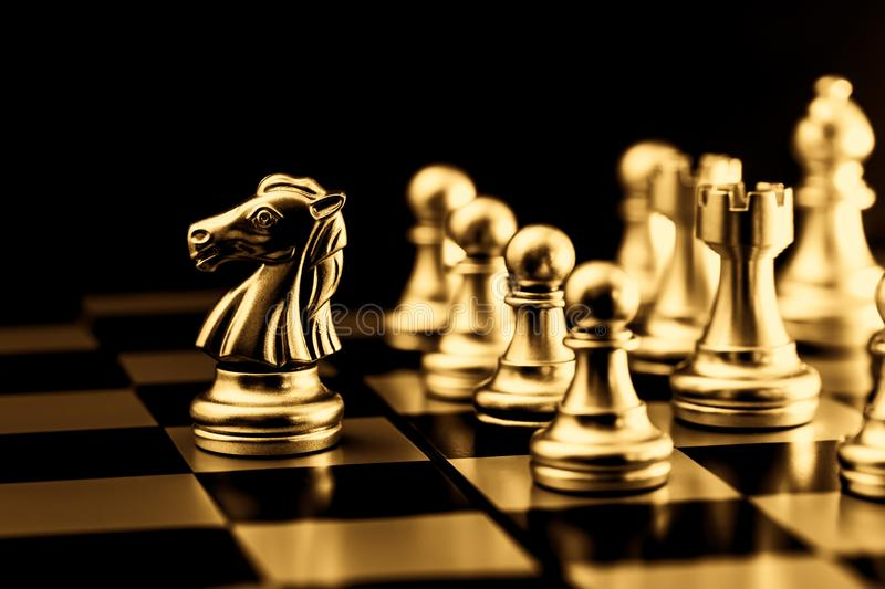 Gold Chess. Elite Business Team Leader luxury rich gorgeous image stock image