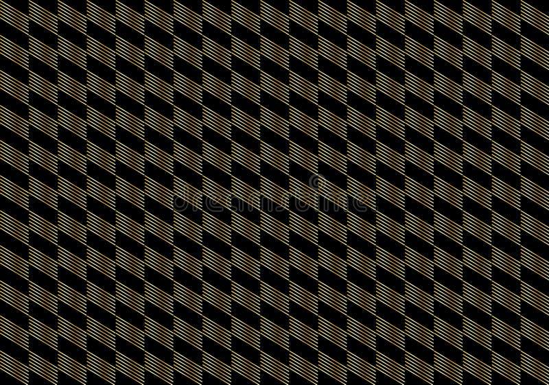 Gold chess geometric background. Geometric gold chess, black background. Diagonal Pattern. Vector file. A gold diagonal stripes on black background. For art vector illustration