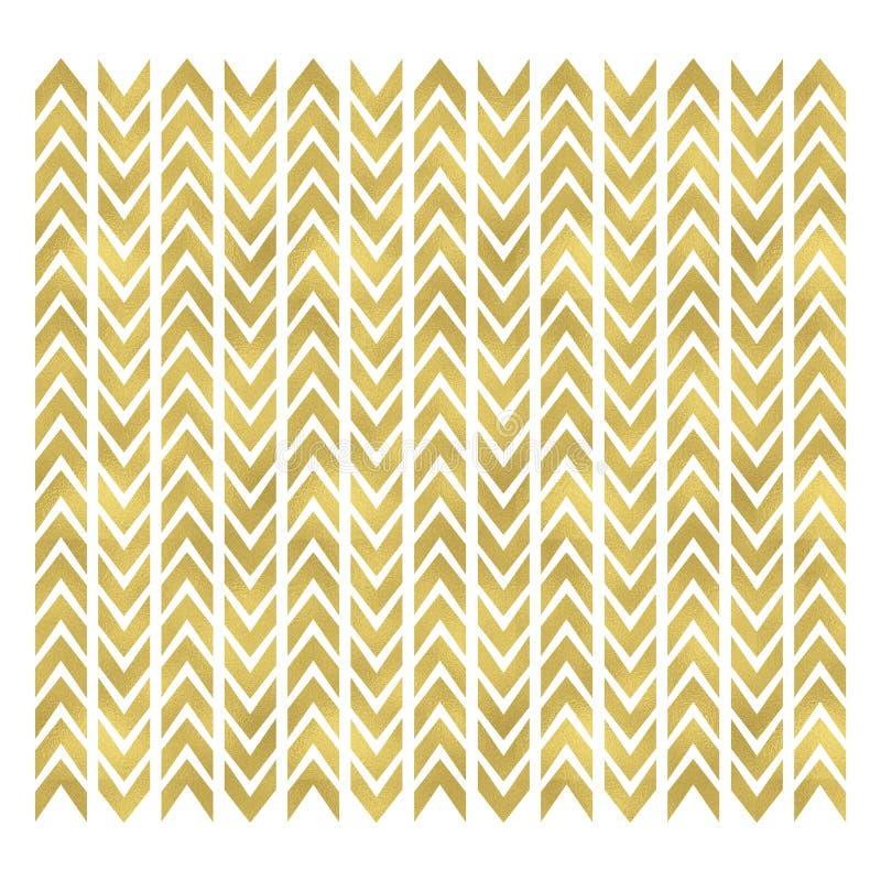Gold chevron pattern royalty free stock photos
