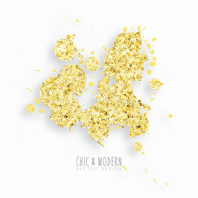 Gold Chic Background Vector Design Element. Gold Modern Chic Background Vector Design Element royalty free illustration