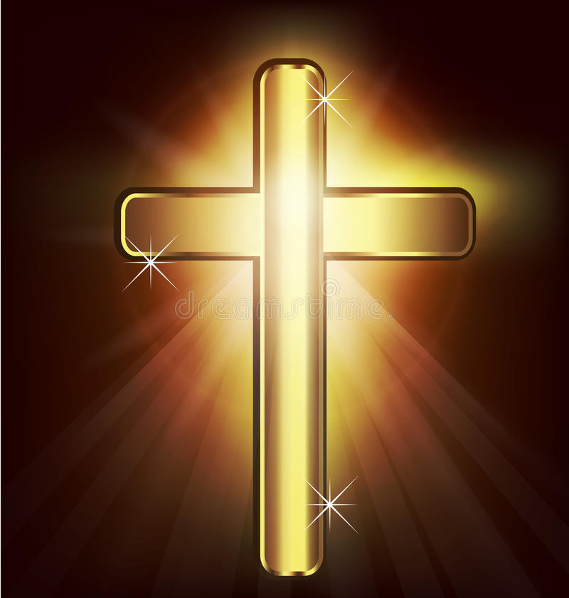 Gold Christian Cross. Image vector background vector illustration