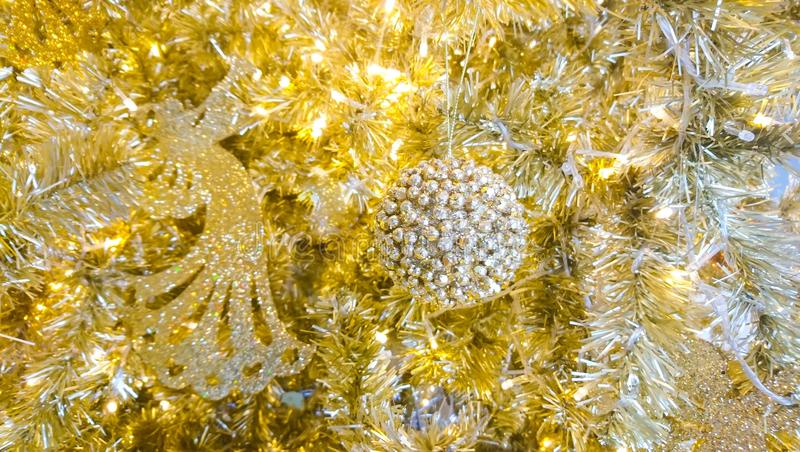 Gold Christmas background. Decoration new year cerebration royalty free stock photography