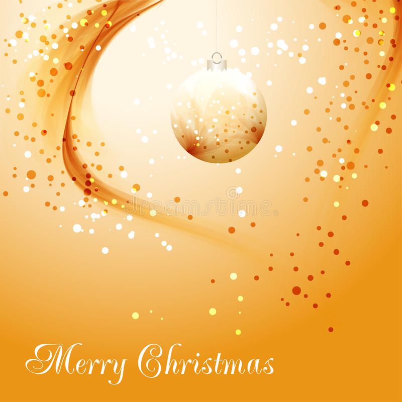 Gold Christmas background with delicate bauble. Gold deicate bauble. Christmas background vector illustration