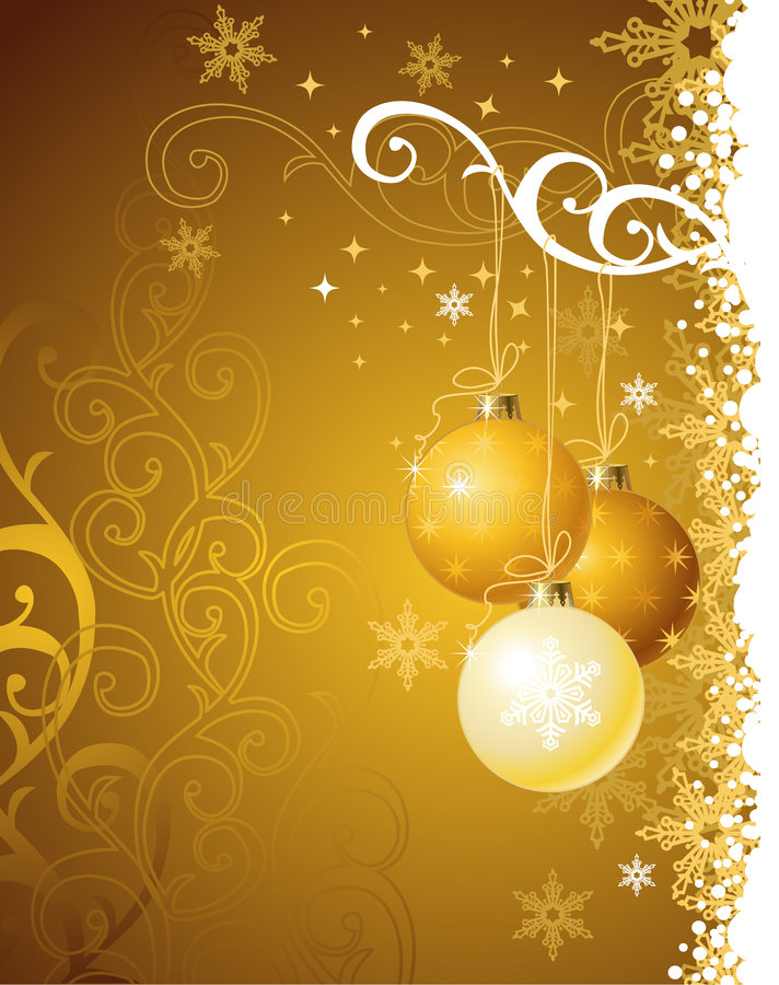 Free Gold Christmas Background / Vector Illustration Royalty Free Stock Image - 3791136