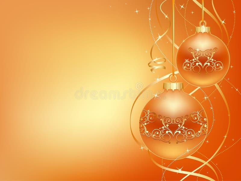 Gold_christmas_ball illustrazione vettoriale