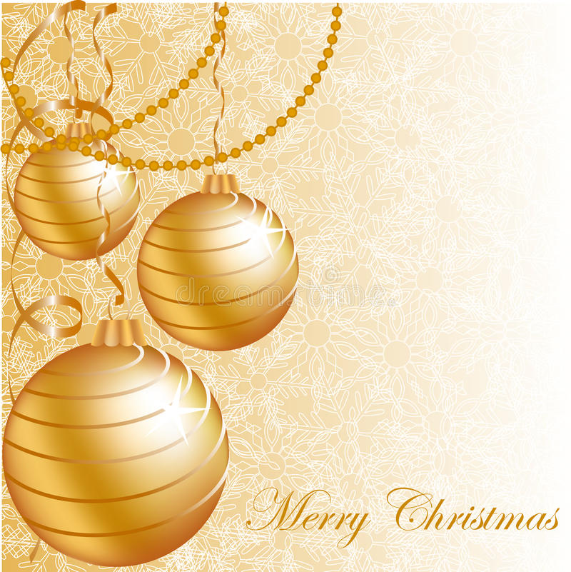 Free Gold Christmas Balls Stock Images - 17101284