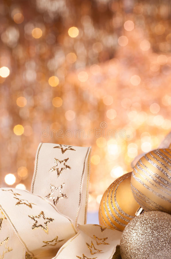 Free Gold Christmas Baubles Royalty Free Stock Image - 27399696