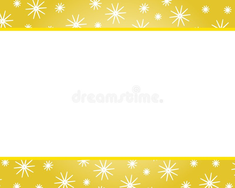 Gold Christmas Borders. A clip art illustration featuring gold christmas borders with snowflakes. Can be used separately or as an entire background vector illustration