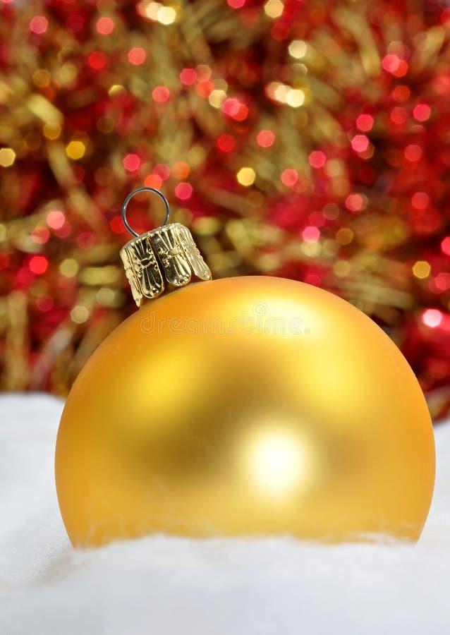 Gold christmas decoration stock photo