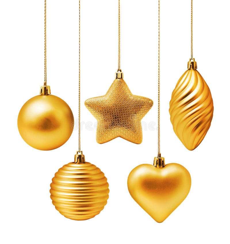 Free Gold Christmas Decoration Royalty Free Stock Image - 37937956