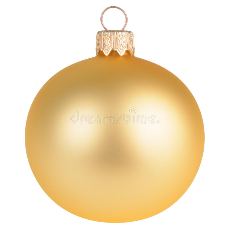 Free Gold Christmas Decoration Ball Isolated On White Royalty Free Stock Image - 43667776