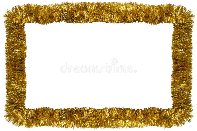 Gold Christmas garland royalty free stock photography