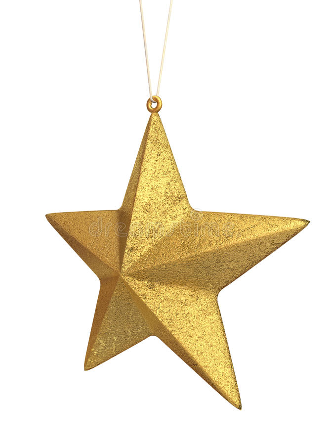 Gold Christmas star stock illustration
