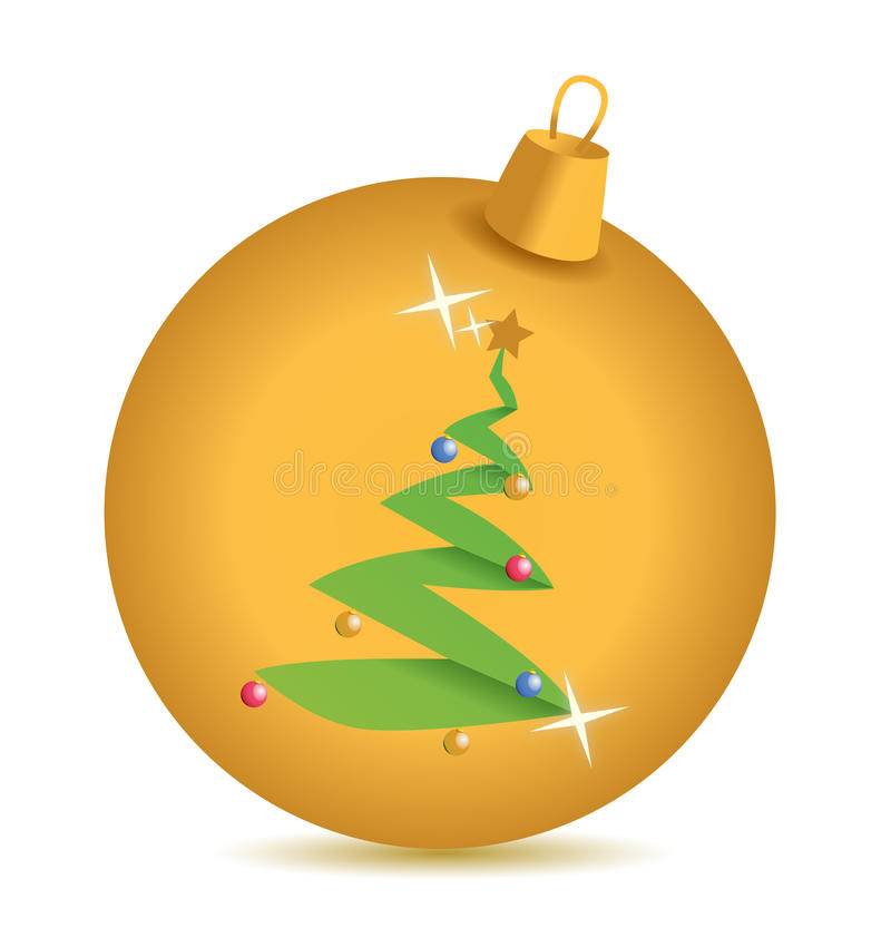 Download Gold Christmas Tree Ornament Stock Illustration - Image: 28014590
