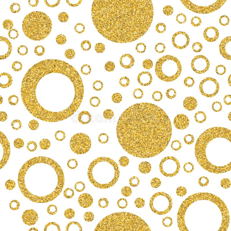 Gold circle seamless background. Circle and graphics elements. Abstract seamless pattern for card, invitation, poster, banner,. Placard, diary, album, sketch stock illustration