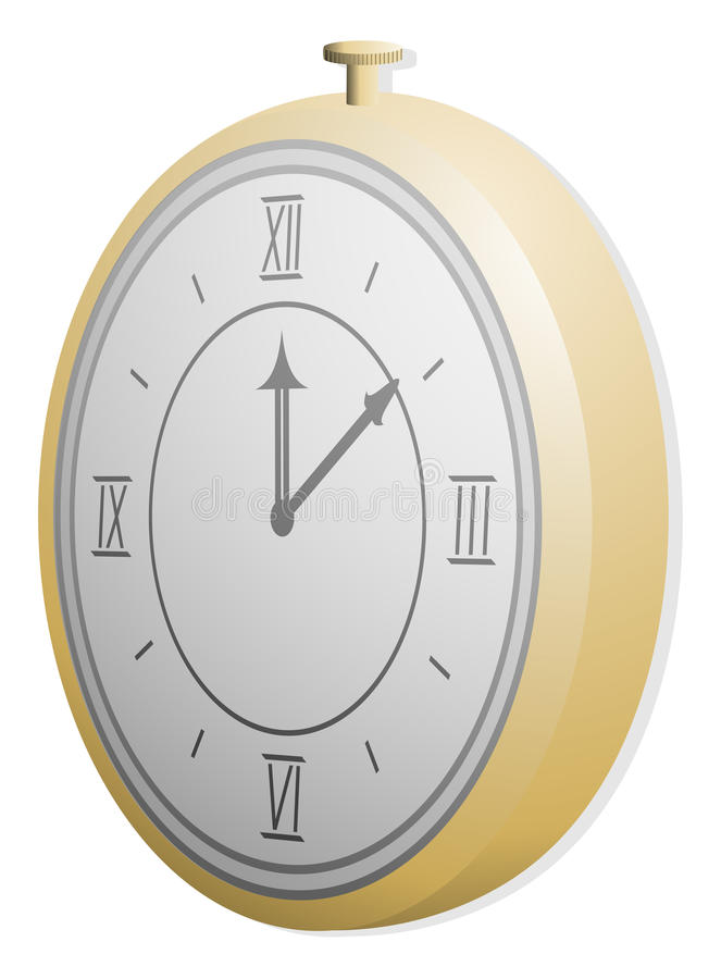 Gold Clock Royalty Free Stock Photo