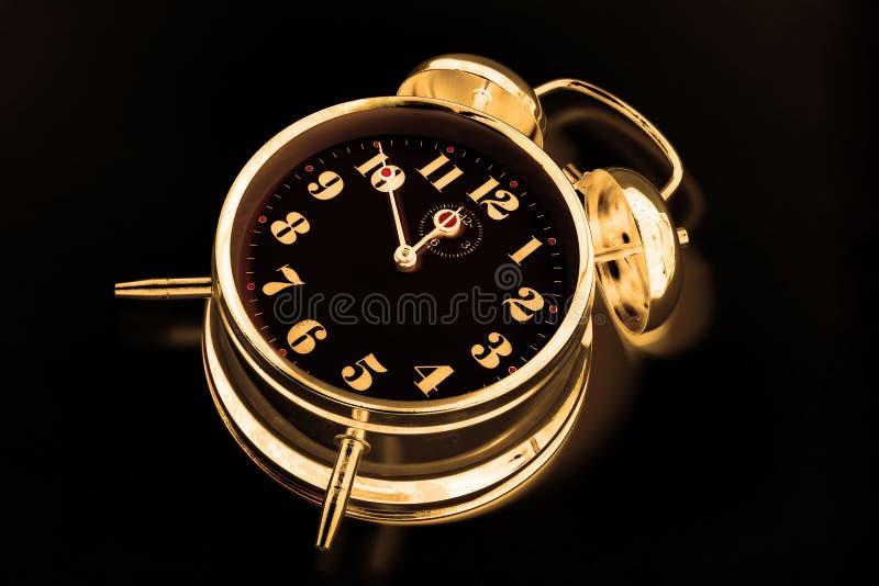 Gold clock royalty free stock photo