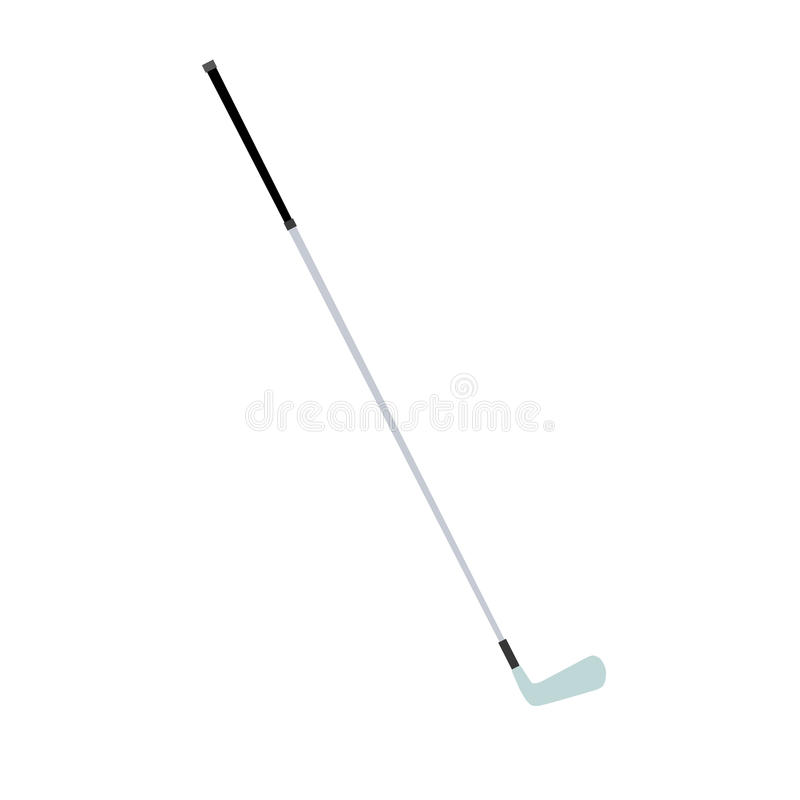 Golf club vector isolated iron illustration white ball equipment sport game metal. Golf club vector isolated iron illustration white ball equipment sport metal royalty free illustration