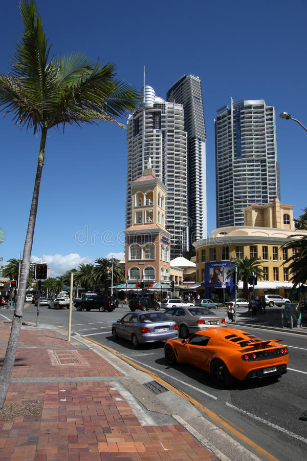 Gold Coast. AUSTRALIA - MARCH 25: City life in  on March 25, 2008 in , Australia. GC now Australia's fastest growing large city, with annual population growth royalty free stock image