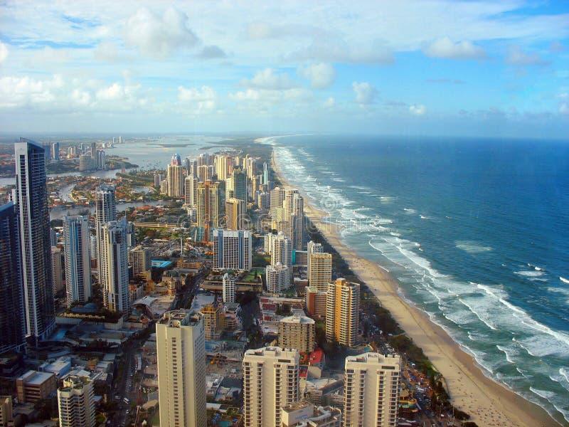 Gold Coast, Australia. Beach at Surfers Paradise in Gold Coast, Australia stock photography