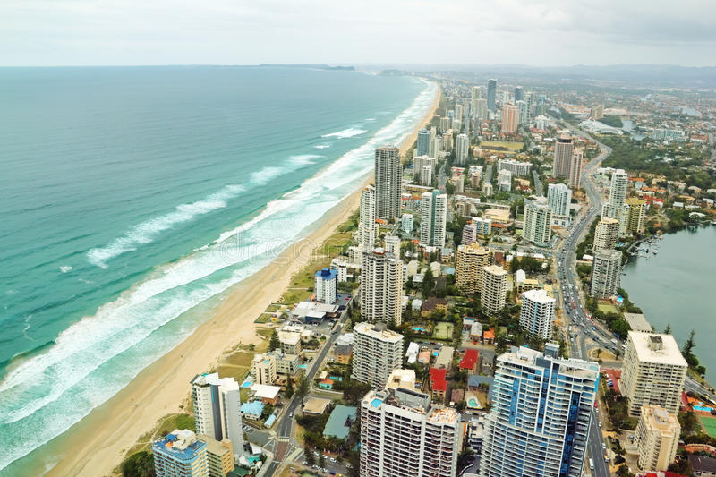 Download Gold Coast Australia stock photo. Image of surf, cloudy - 21514270