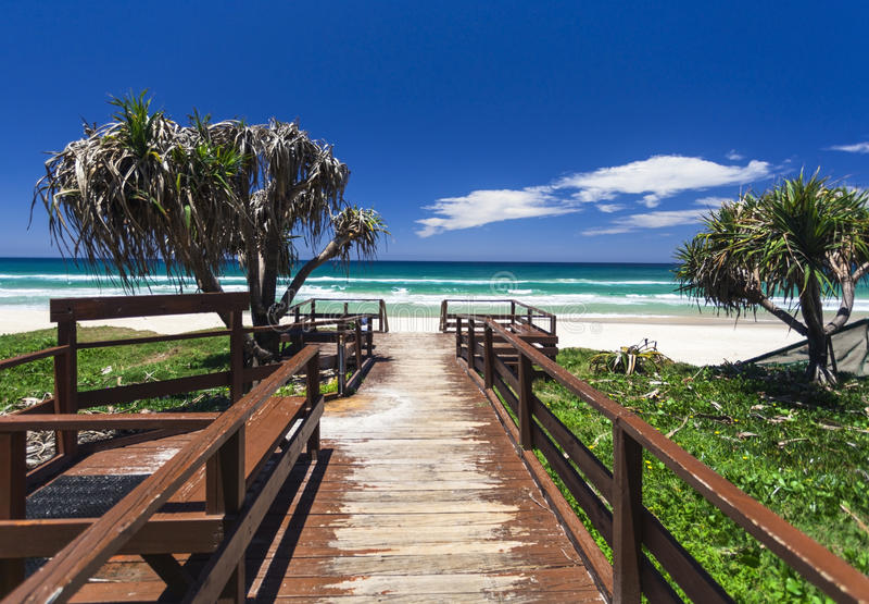 Gold Coast beach. Amazing sunny day on the Gold Coast, Australia royalty free stock photos