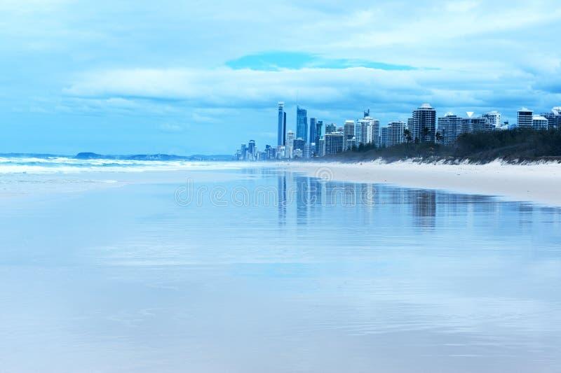 Gold coast beach stock images