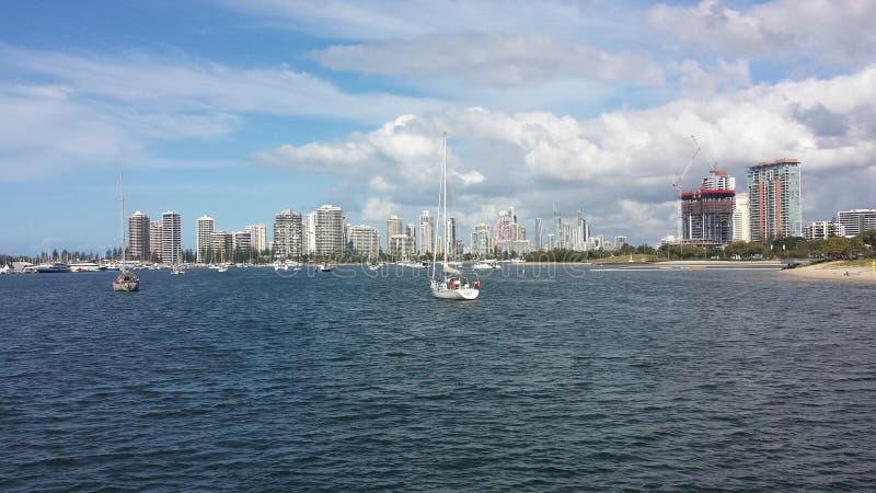 Gold Coast Broadwater royaltyfria bilder