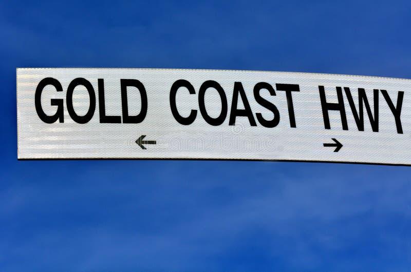 Gold Coast huvudväg Queensland Australien arkivfoton