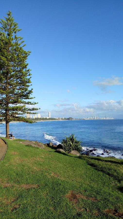 Gold Coast is the morning royalty free stock images