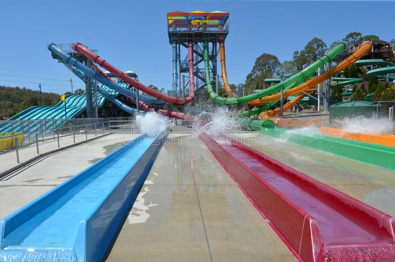 Gold Coast Queensland Αυστραλία Wet'n'Wild στοκ εικόνα