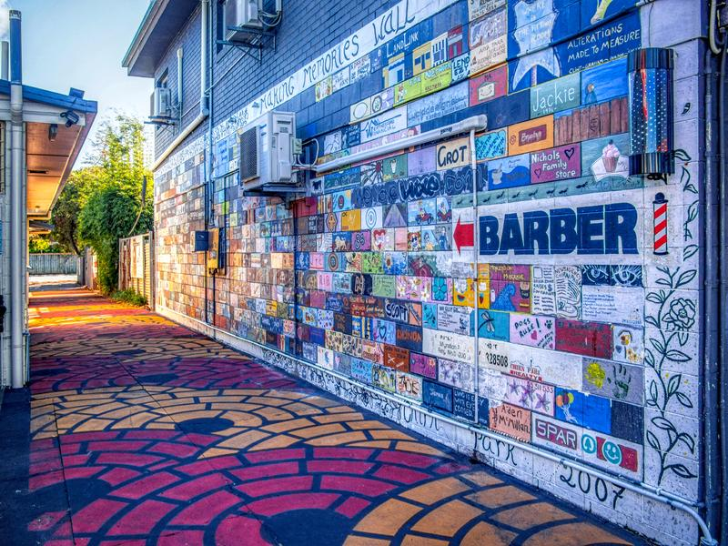 Gold Coast Queensland Australia October 19 2018 graffiti wall in alley way royalty free stock photo