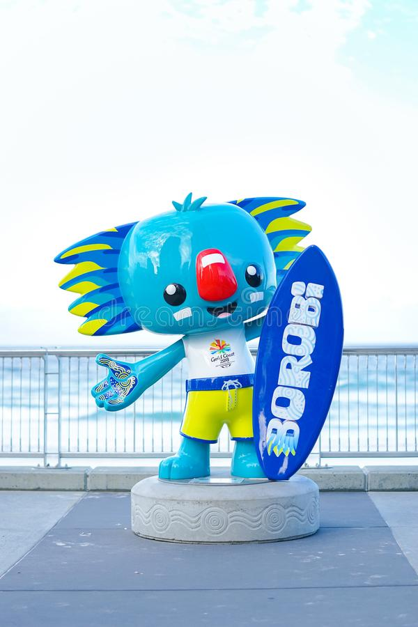 Gold Coast 2018 Spiel-Maskottchen Borobi des Commonwealth-XXI stockfotografie