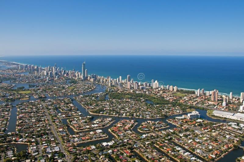 Gold Coast sydostlig Queensland horisont 2 arkivfoto