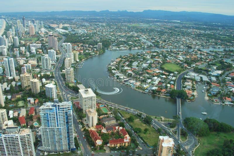 Gold Coast View stock image