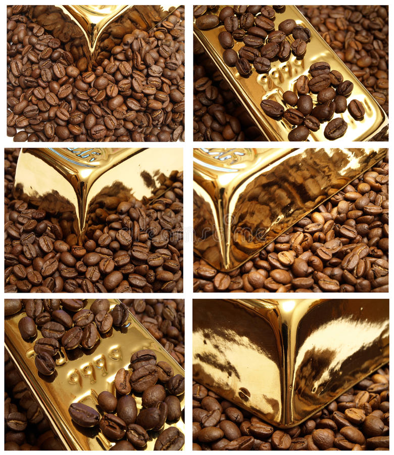 Download Gold Coffee Royalty Free Stock Photos - Image: 15455278