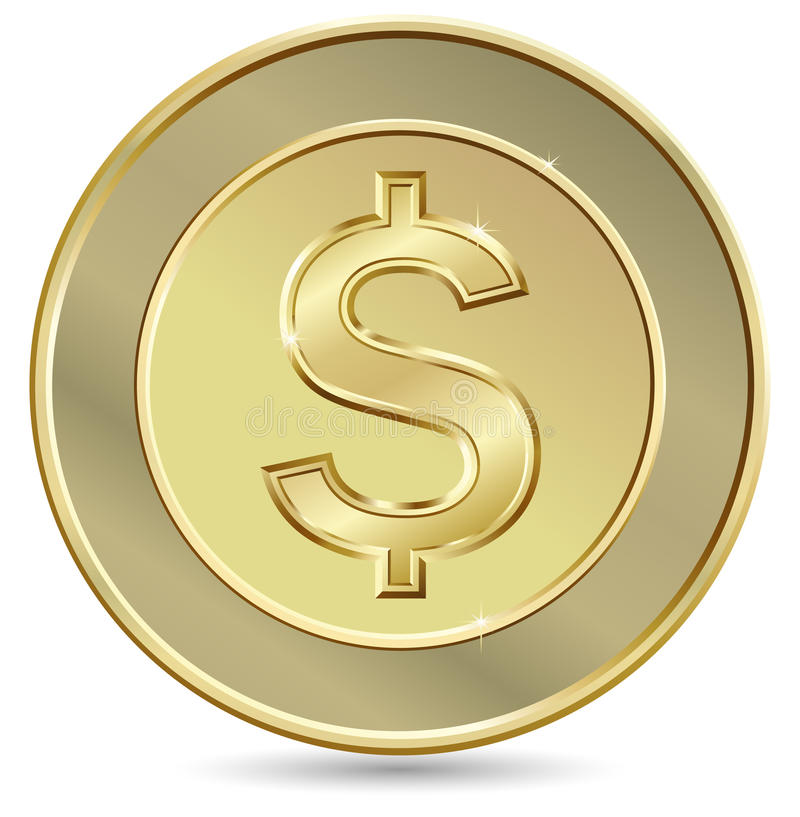 Download Gold coin stock vector. Image of currency, earn, savings - 12836602