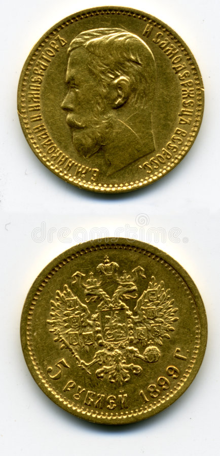 Gold coin stock images