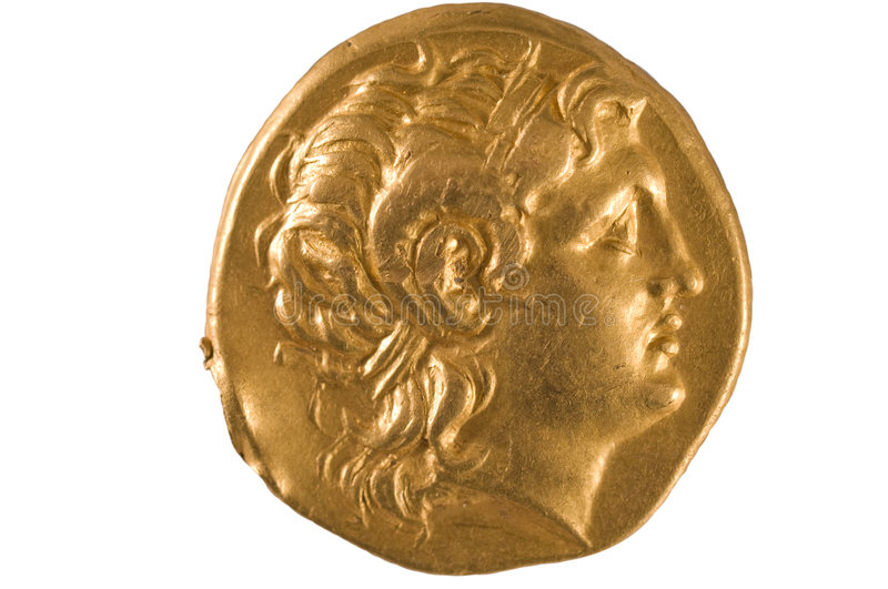 Download Gold Coin Of Ancient Greece. Stock Image - Image: 8464595