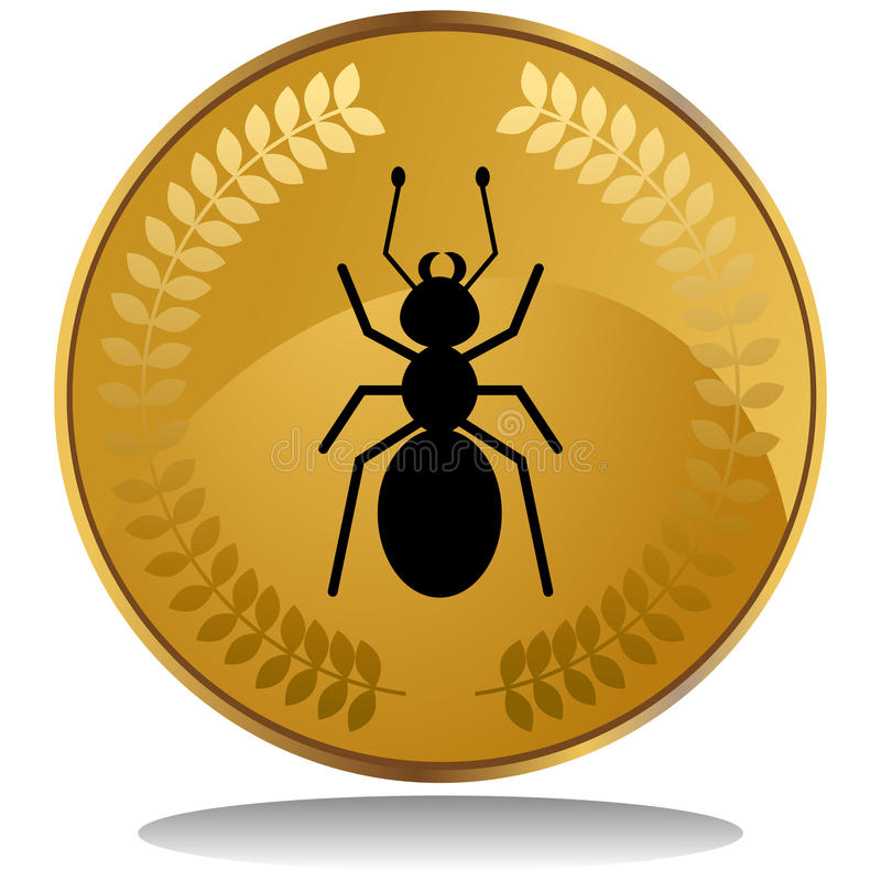 Download Gold Coin - Ant stock vector. Illustration of golden - 10179779