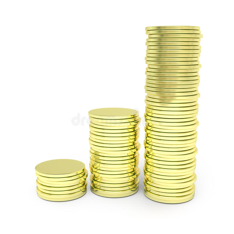 Download Gold coin graph stock photo. Image of gold, concepts - 21555660