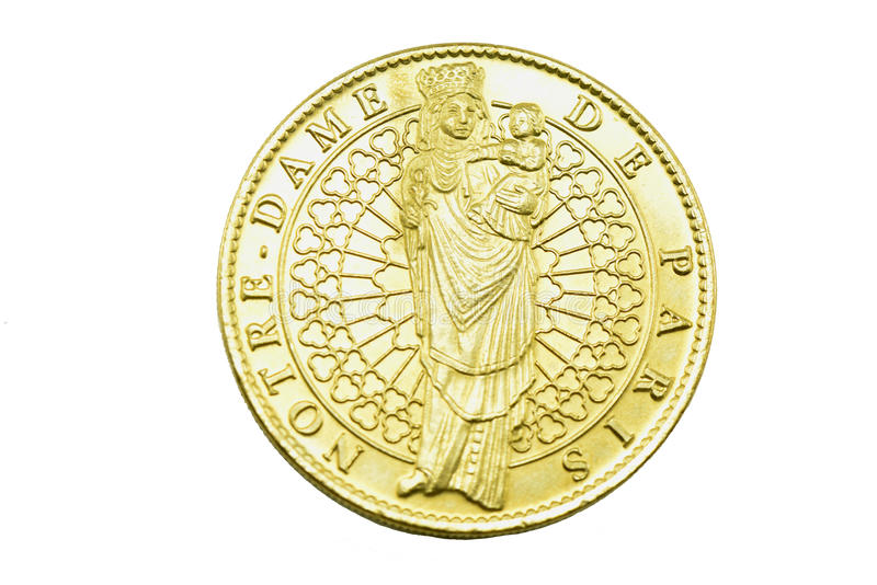 Gold coin stock photo